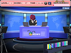 Newsreaders Kiss game