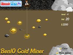 Ben10 Gold Miner game
