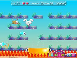 Rabbit Catch Fish game