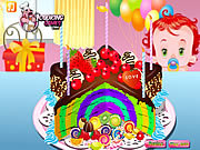 Rainbow Clown Cake game