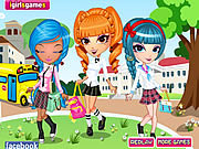 Juega al juego gratis Cutie Trend School Girl Group Dress Up