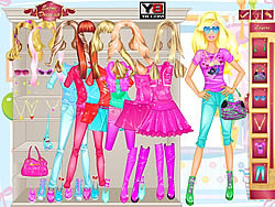 Barbie Room Dress Up game