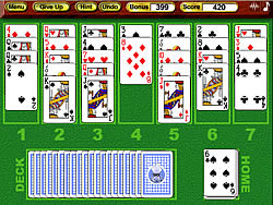 Crystal Golf Solitaire game