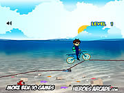 Juega al juego gratis Ben 10 Motocross Under the Sea