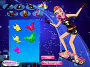 Skateboard Girl Dress Up game