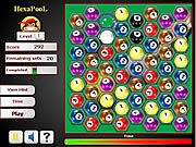 Juega al juego gratis Hexa Pool