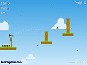 Juega al juego gratis The King Of Slingshot