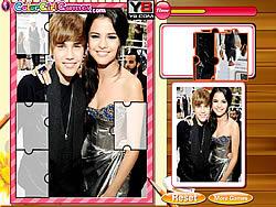 gra Justin Bieber And Selena Gomez Puzzle