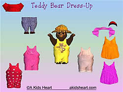 Teddy Bear Dress Up game