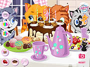 Juega al juego gratis Kitty Tea Party