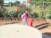 Kids play in the park