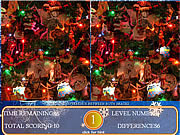 เล่นเกมฟรี Spot The Difference Christmas Edition