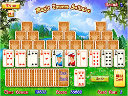 Magic Towers Solitaire game