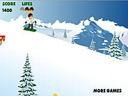 ben 10 snowboard لعبة