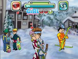 Skiing and Kissing game