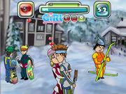 Juega al juego gratis Skiing and Kissing