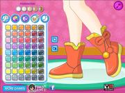 Juega al juego gratis Dress my snow boots