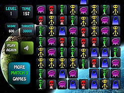 Aliens Match 3 game