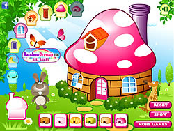 Decorate My Mushroom House game