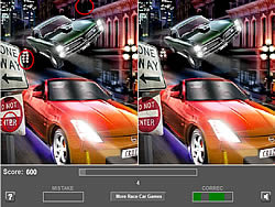 Racing Car - Five Difference game