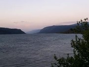 Watch free video Columbia River at Sunset