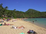 Watch free video Sun Bathers on Hawaiian Beach
