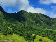 Watch free video Helicopter Shot of Hawaiian Mountain Range
