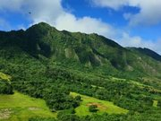 Watch free video Helicopter Shot of Hawaiian Mountain Range