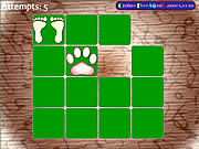 Animal Footprint Pairs game