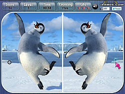 Happy Feet Spot the Difference game