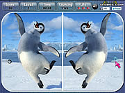 Happy Feet Spot the Difference لعبة