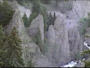 Watch free video View of Waterfall and Elk in the Woods