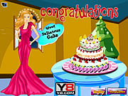 Juega al juego gratis Cooking Barbie Cake