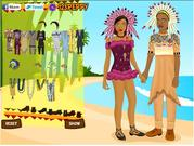 African Wedding Dressup game