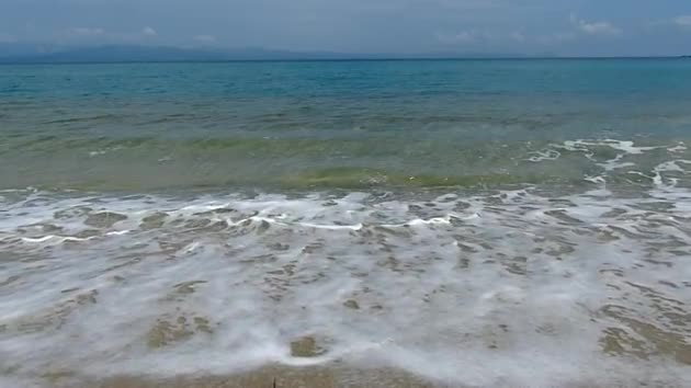 Watch free video Waves on the Beach