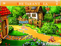 Tarantula Village Farm House Hidden Alphabets game