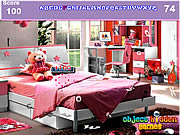 שחקו במשחק בחינם Girls Bedroom Hidden Alphabets