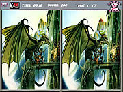 Spot the Differences-Dragons game