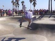 Watch free video Skater at Venice Beach Skatepark
