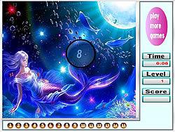 Little Mermaid Hidden Numbers game