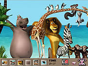 Hidden Spots-Madagascar 3 game