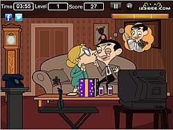 Juega al juego gratis Mr Bean Kissing