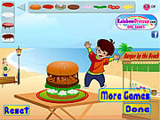 Juega al juego gratis Burger Mania Decorate