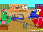 Mira dibujos animados gratis Space Cadet-Bird & Cactus Cartoon