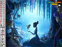 Princess and the Frog Hidden Alphabets game