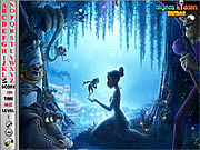 Juega al juego gratis Princess and the Frog Hidden Alphabets
