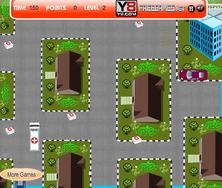 Super Ambulance Parking game