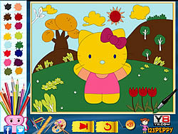 Play Hello Kitty Online Coloring Page Game