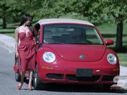 Watch free video Woman in Red Dress Walking and Posing