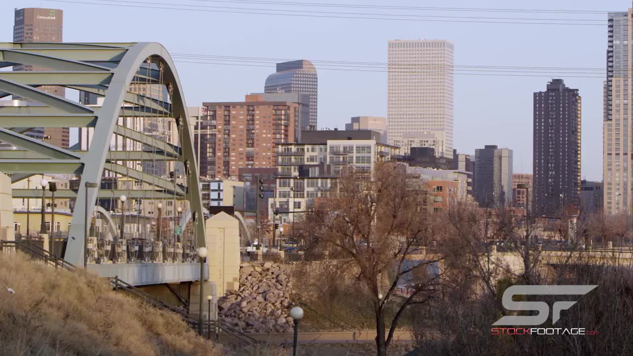 Watch free video Panorama from the Platte River Bridge Slow Motion